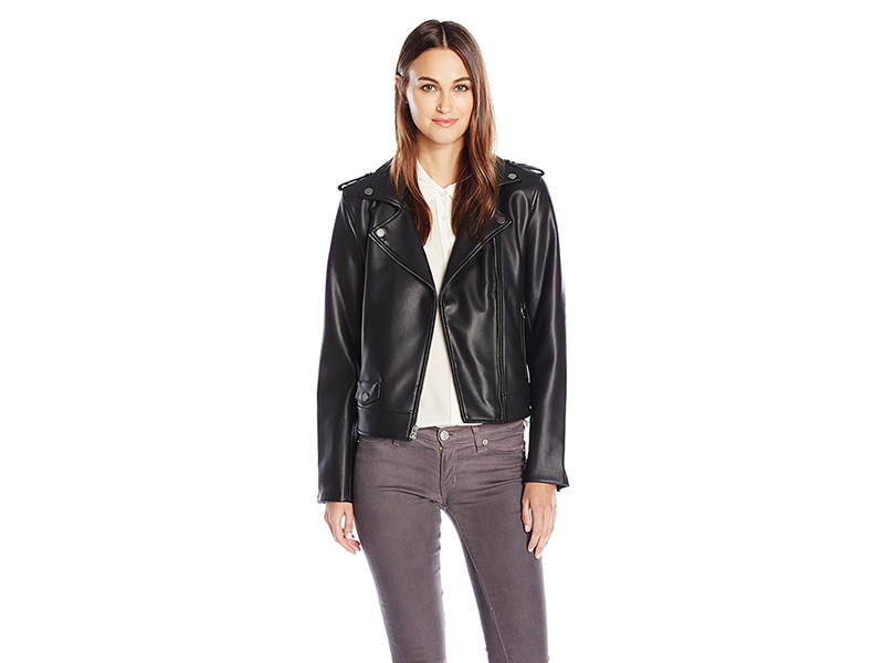Lucky Brand Faux Leather Bonded Moto Jacket