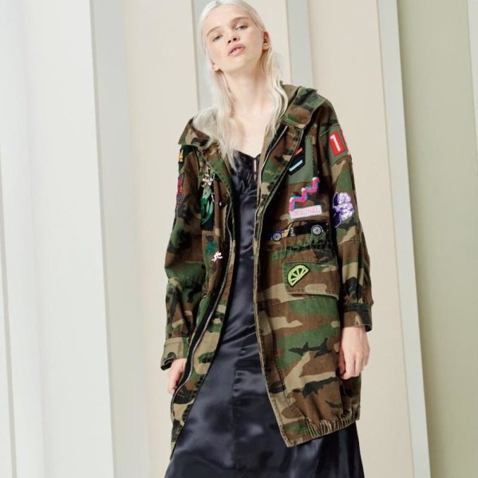 Marc Jacobs Hooded Camouflage Anorak Jacket