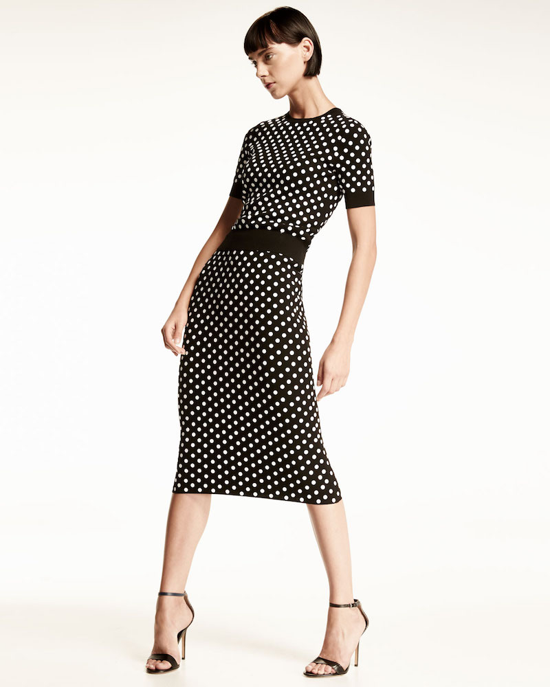 Michael Kors Polka-Dot Pencil Skirt
