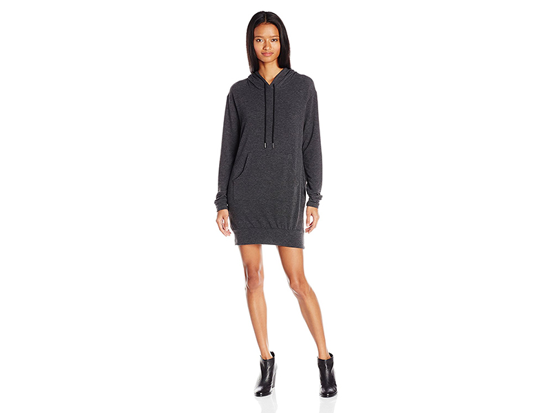 Michelle by Comune Quinlan Long Sleeve Hoodie Dress with Pocket Front