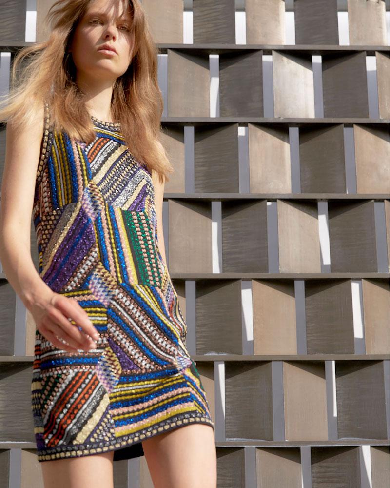 Missoni Sleeveless Crewneck Patchwork Dress