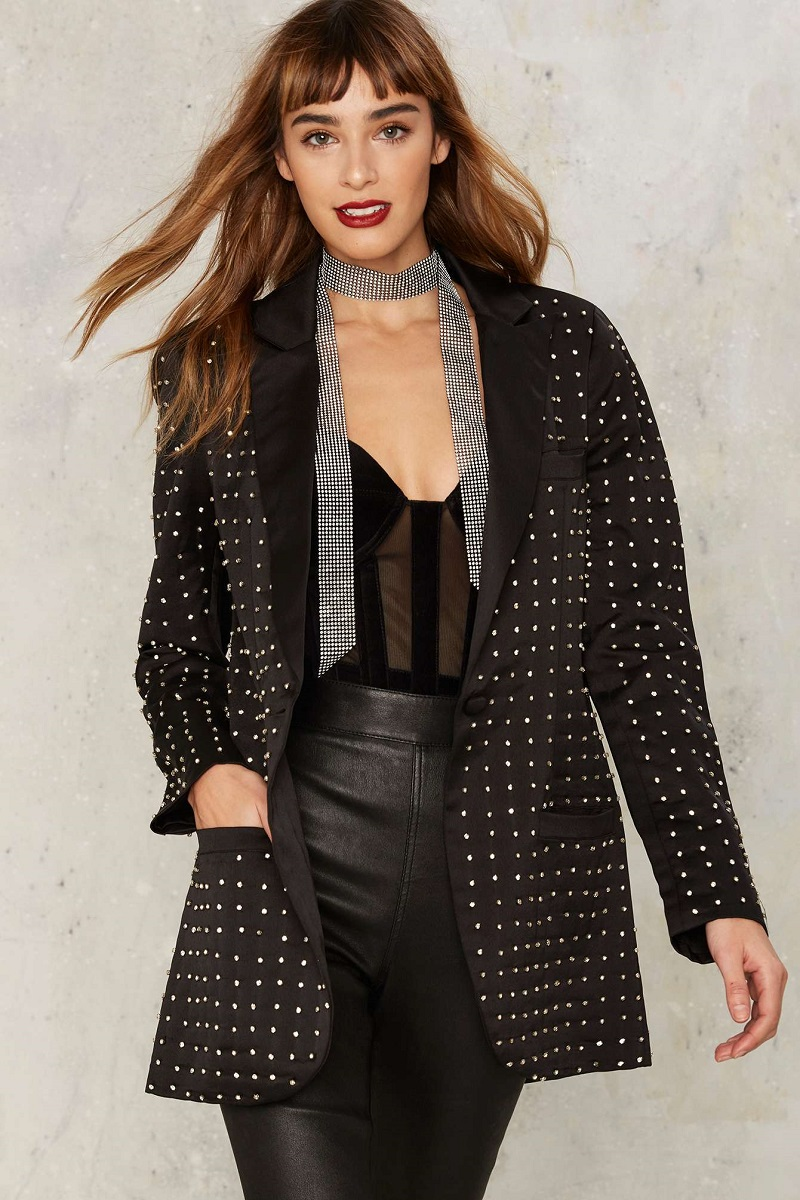 Nasty Gal Collection Charleston Diamonte Blazer