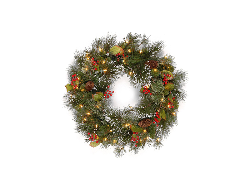 National Tree 24 Inch Wintry Pine Wreath