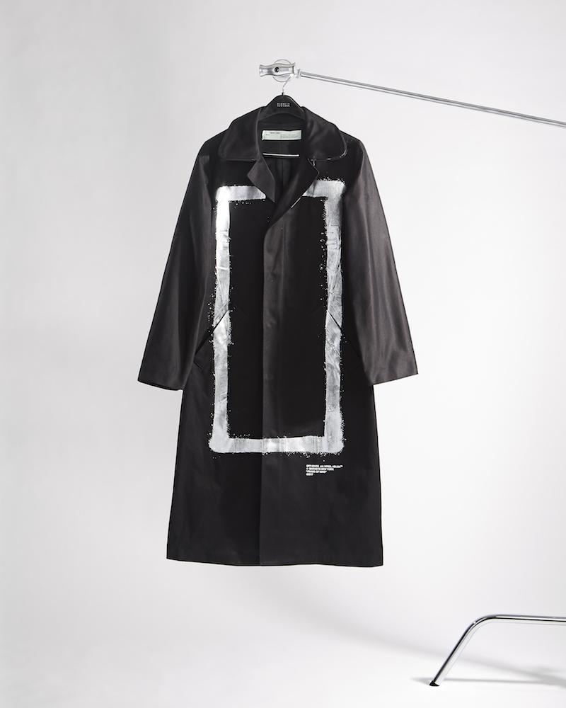 Off-White c/o Virgil Abloh XO Barneys New York Frame Of Mind Cotton-Blend Topcoat