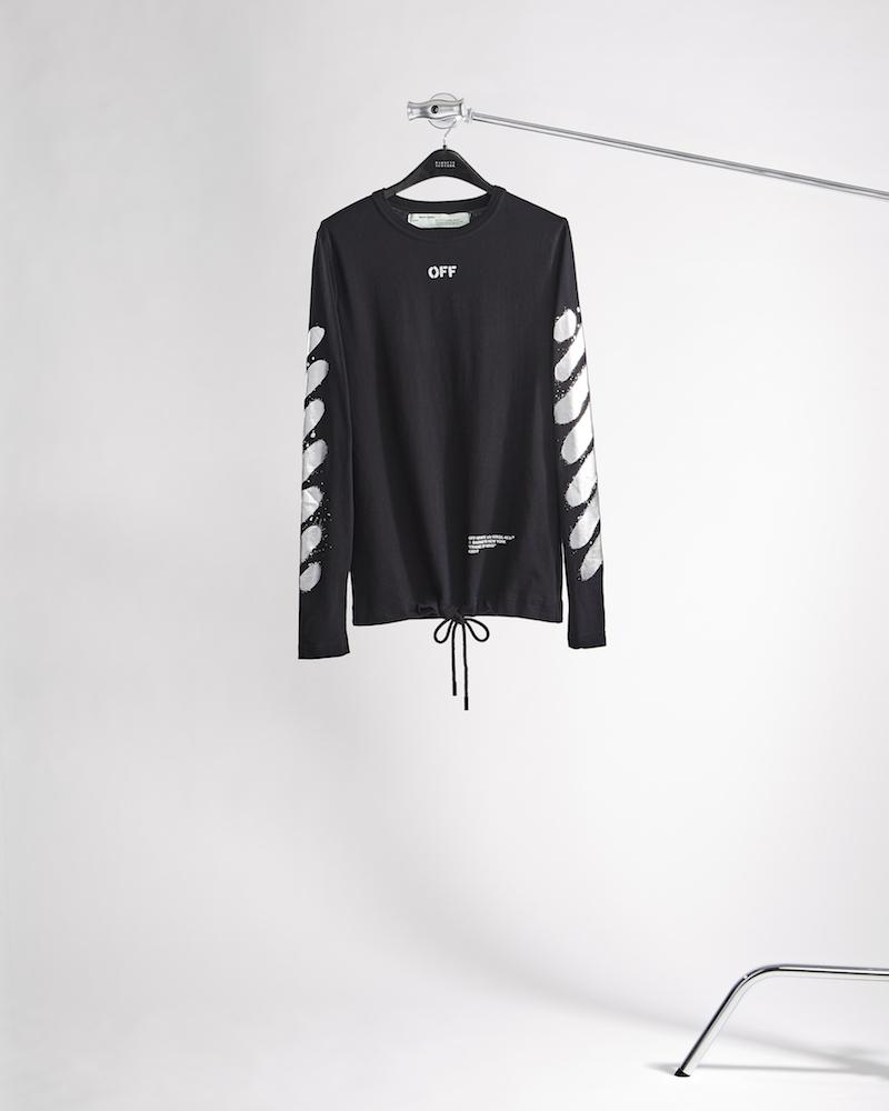 Off-White c/o Virgil Abloh XO Barneys New York Frame Of Mind Cotton Long-Sleeve T-Shirt