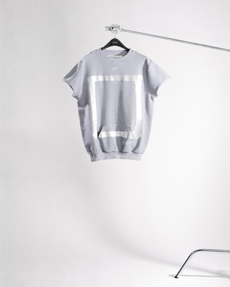 Off-White c/o Virgil Abloh XO Barneys New York Frame Of Mind Cotton Short-Sleeve Sweatshirt
