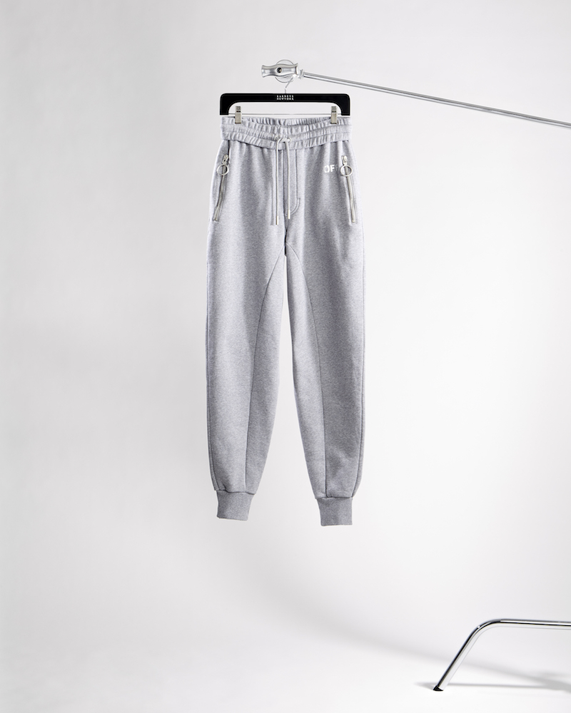 Off-White c/o Virgil Abloh XO Barneys New York Frame of Mind Drop-Rise Cotton Jogger Pants