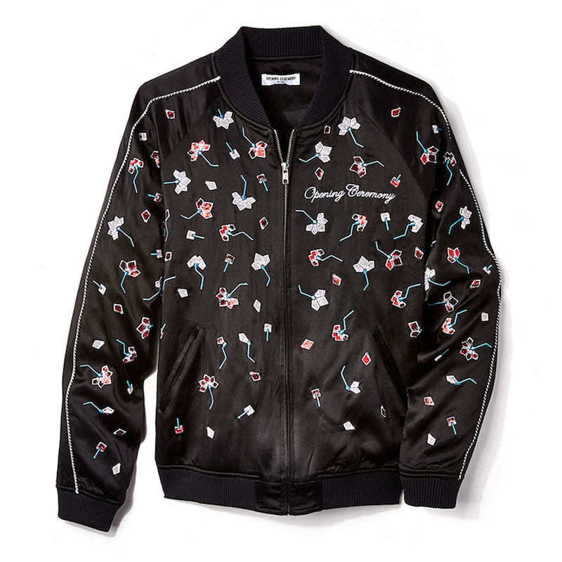 Opening Ceremony Embellished Silk Bomber