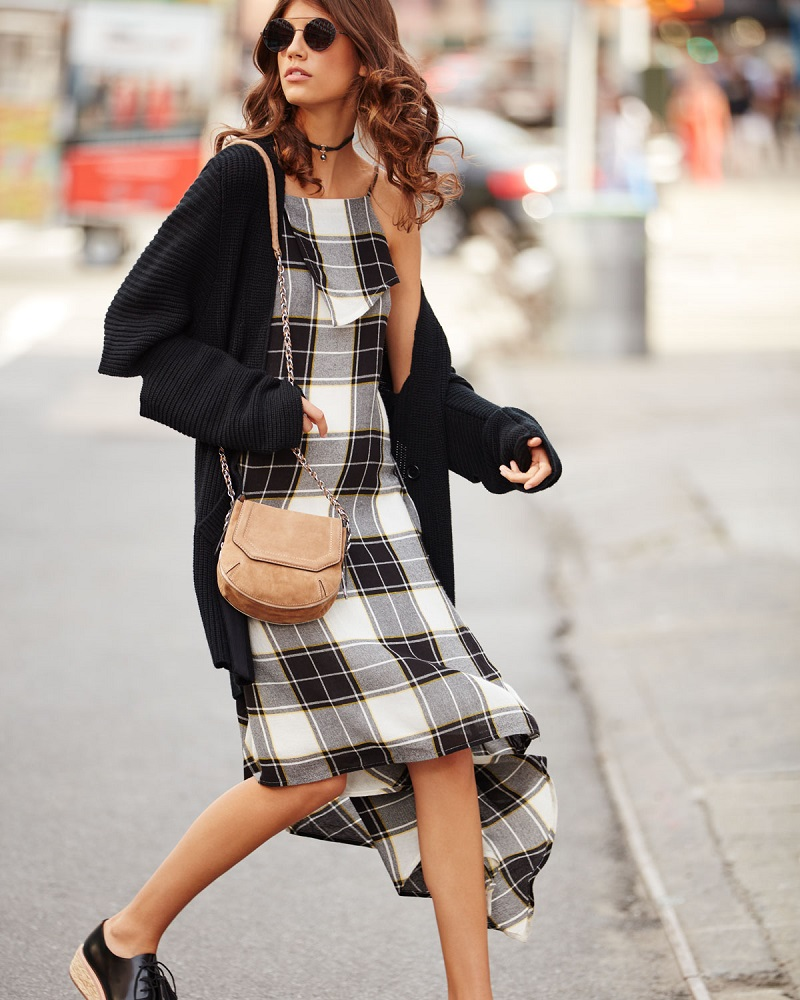 Public School Lilu Sleeveless Plaid Dress