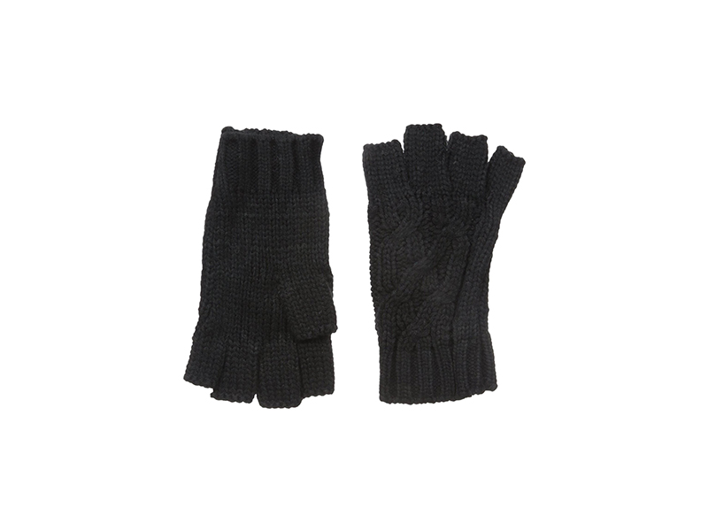 RAMPAGE Cable Knit Cut Off Gloves