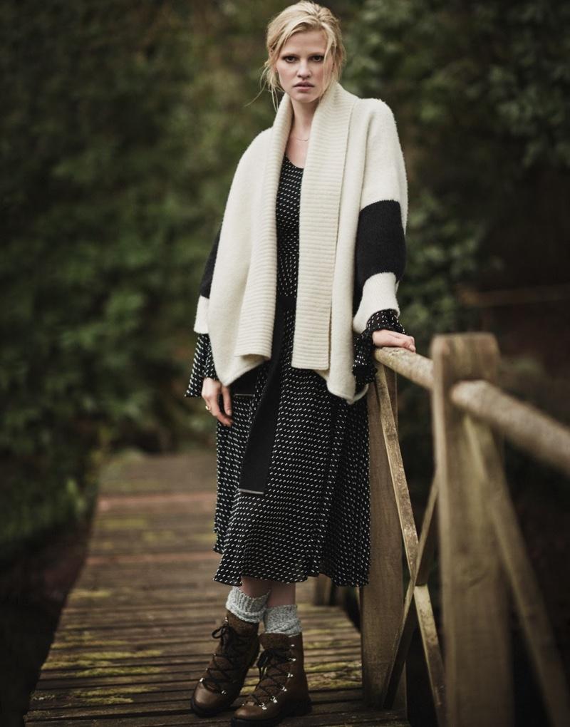 Rag & Bone Britton Striped Merino Wool-Blend Cape
