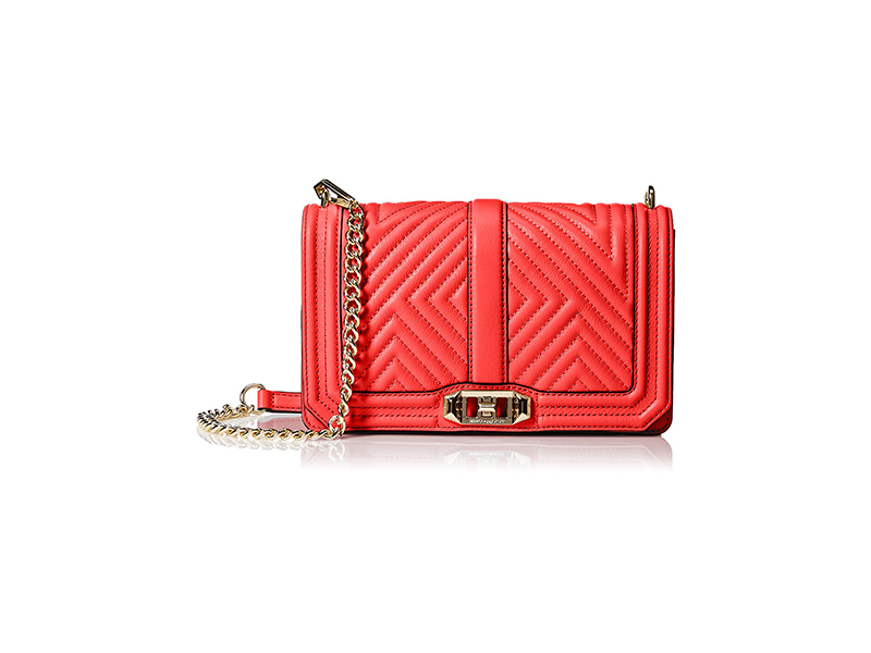 Rebecca Minkoff Geo Quilted Love Cross-Body Shoulder Bag