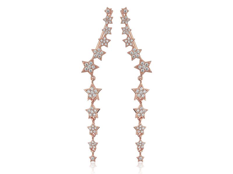 SHASHI Star Disco Climber Earrings