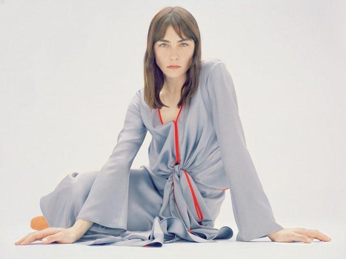 Sies Marjan Gathered-Detail Silk-Satin Skirt