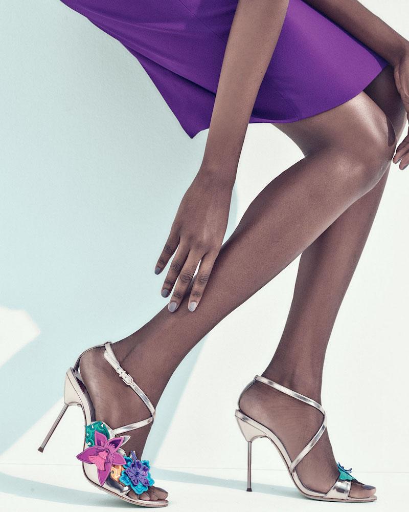 Sophia Webster Hula 3D Floral 105mm Sandal