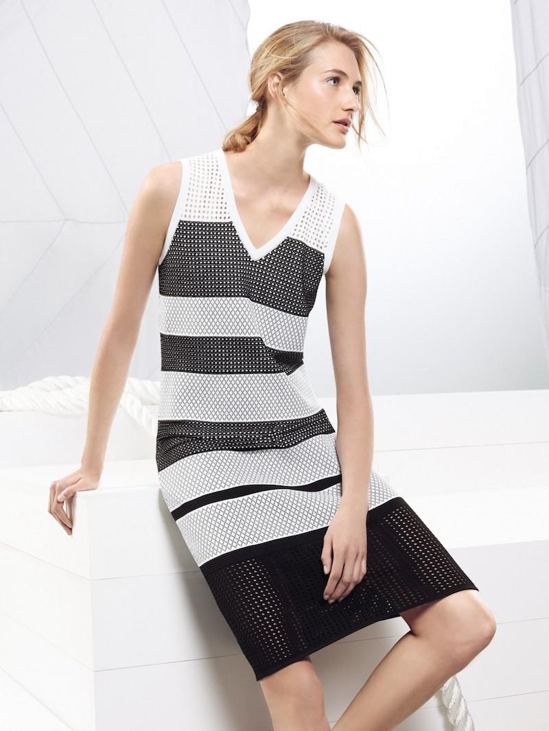 St. John Open Knit Striped Dress