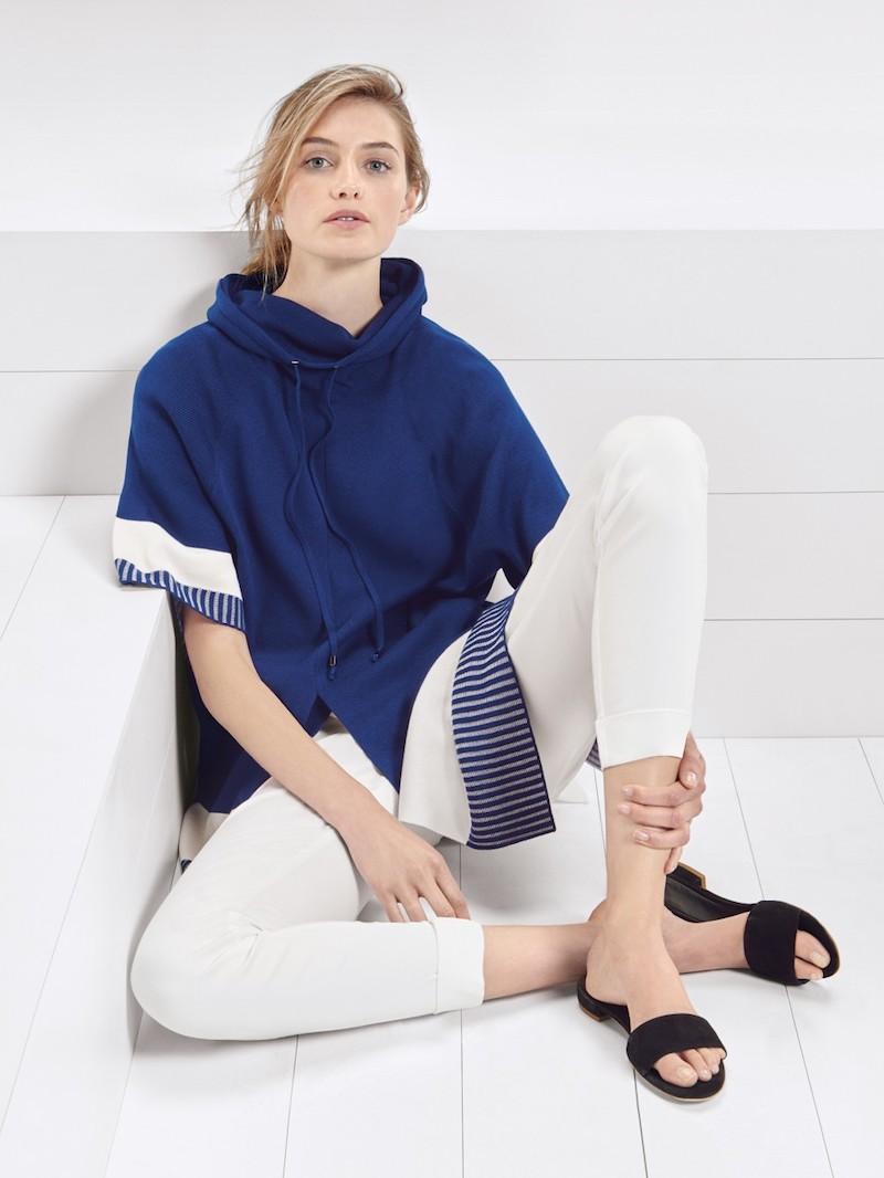 St. John Sport Collection Full Needle Rib Knit Raglan Sweater