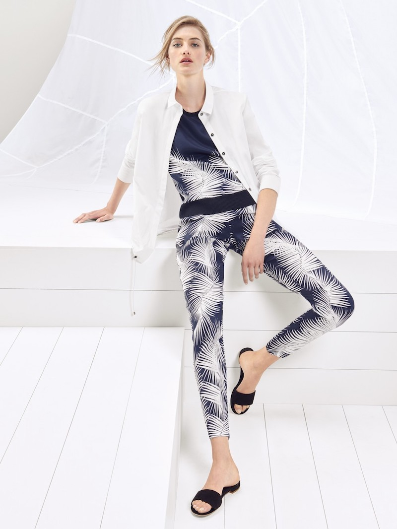 St. John Sport Collection Palm Printed Pants