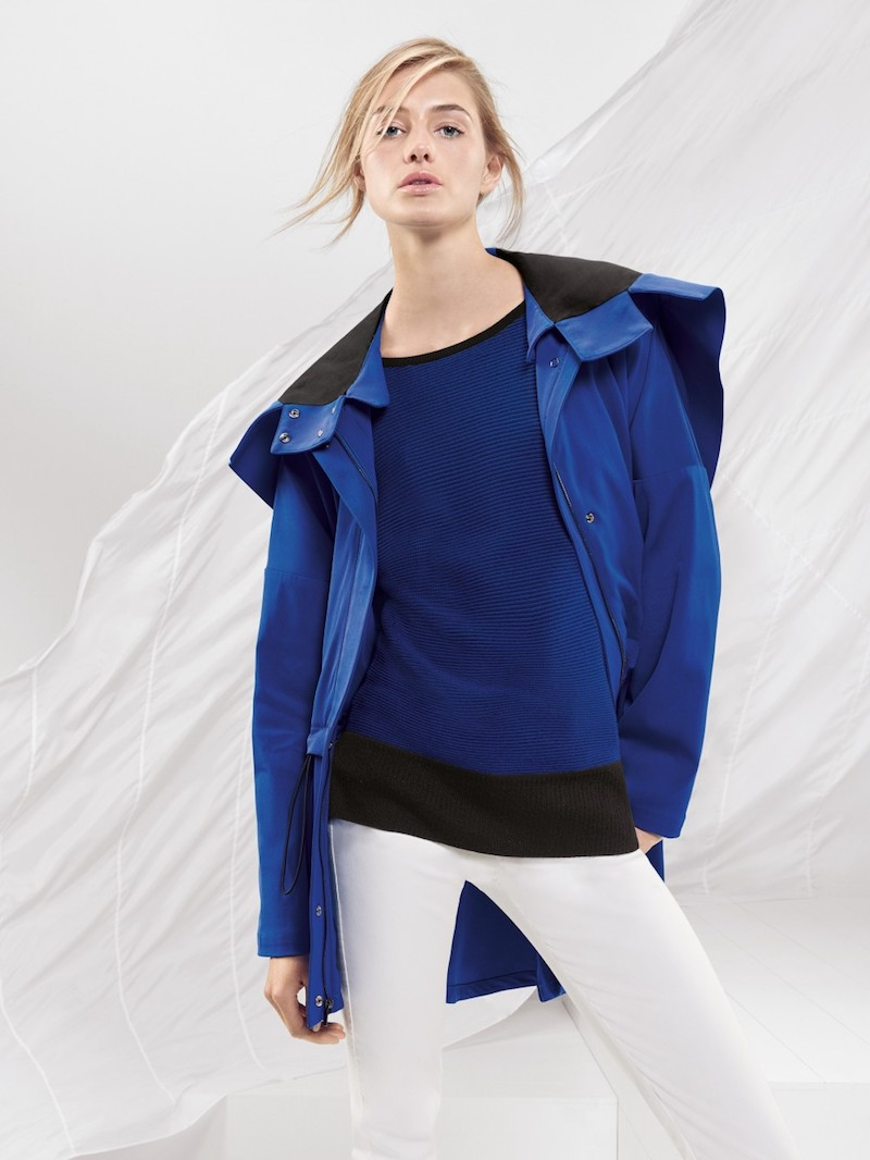St. John Sport Collection Stretch Colorblock Jacket