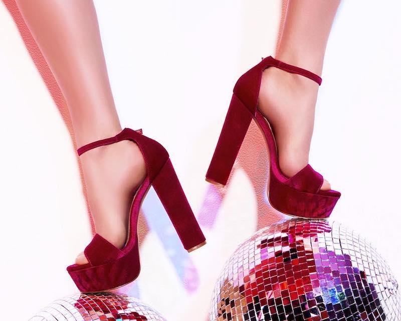 Steve Madden Gonzo Velvet Platform Shoes