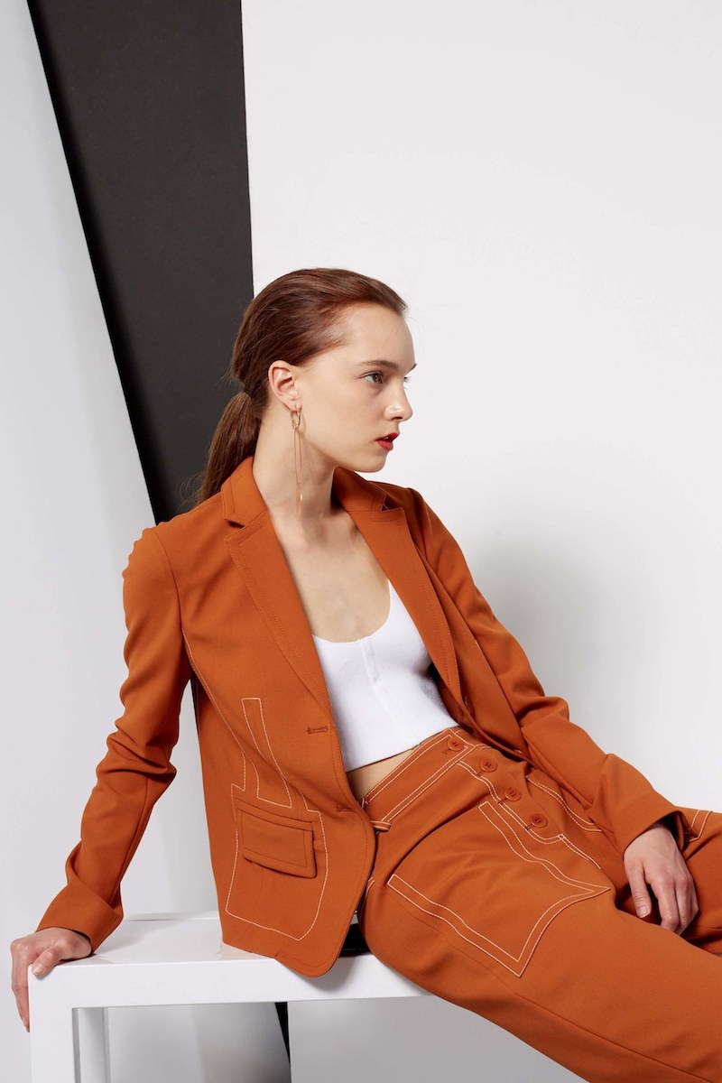Tibi Anson Stretch Blazer
