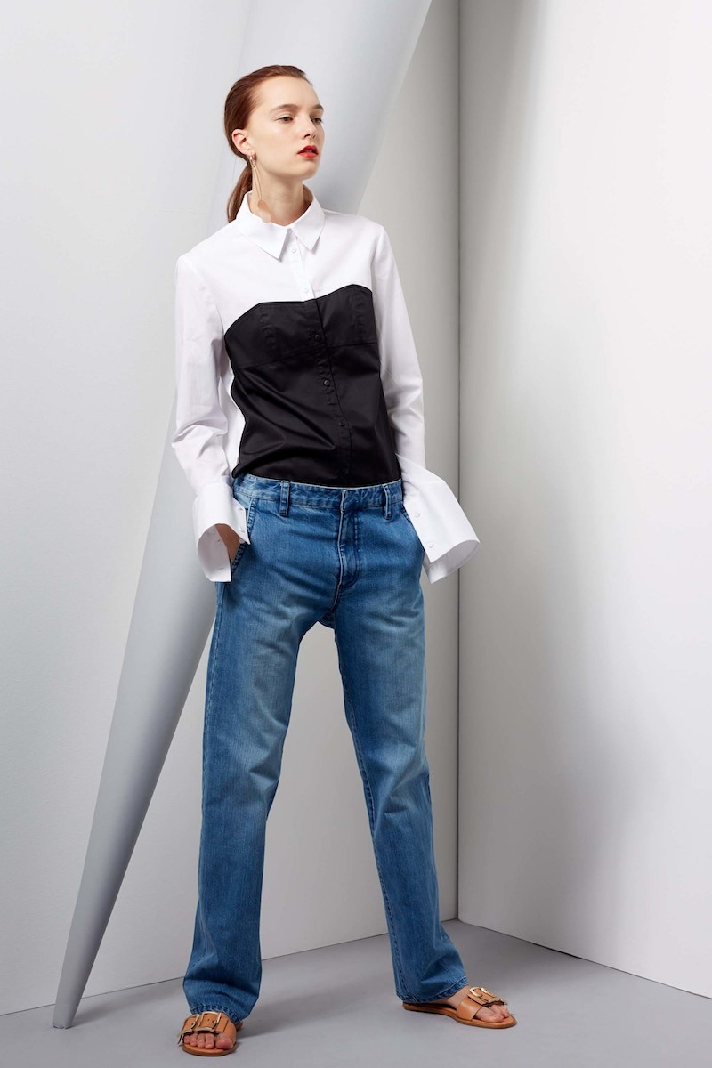 Tibi Denim Slouch Pants