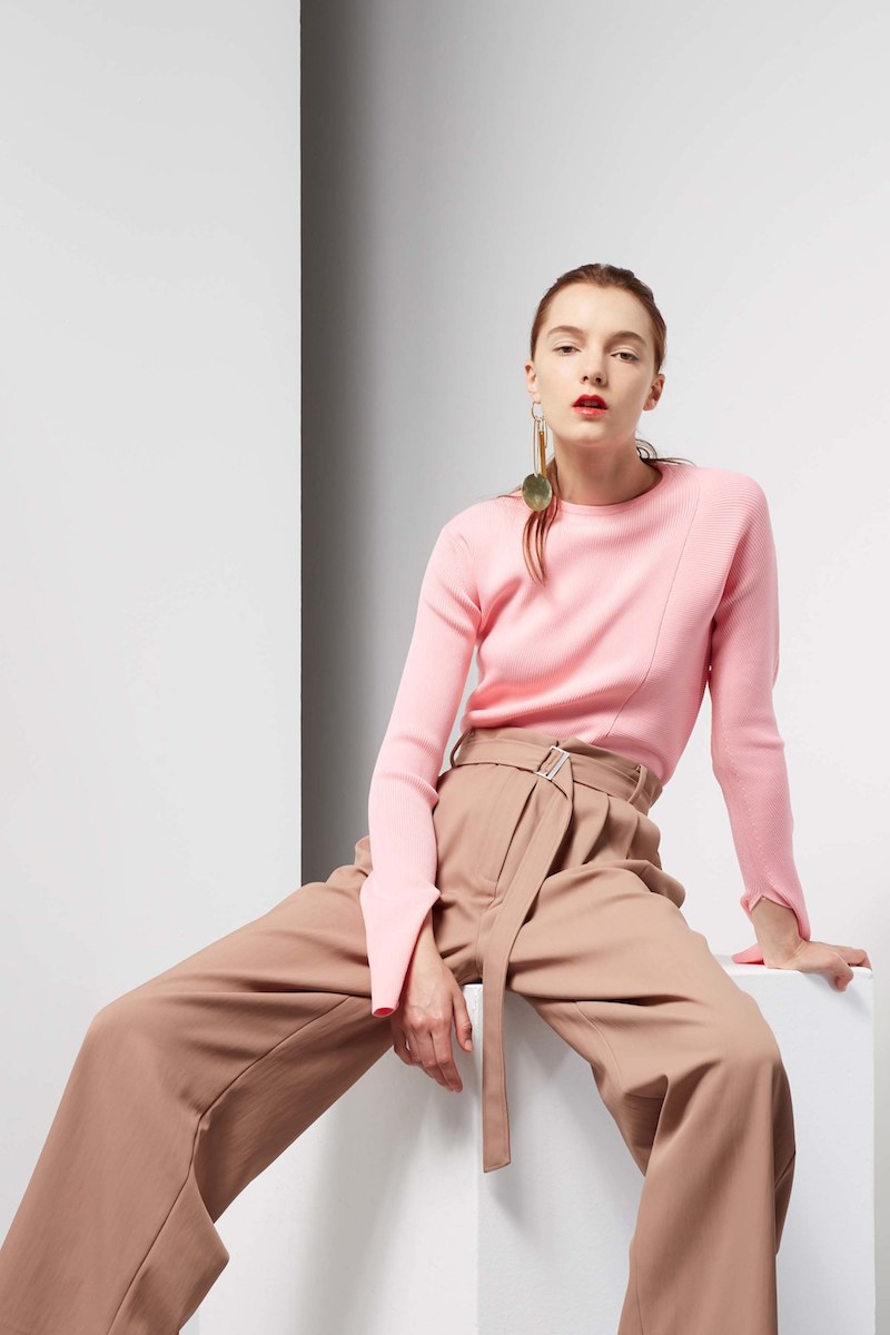 Tibi Trench Wide Leg Pants