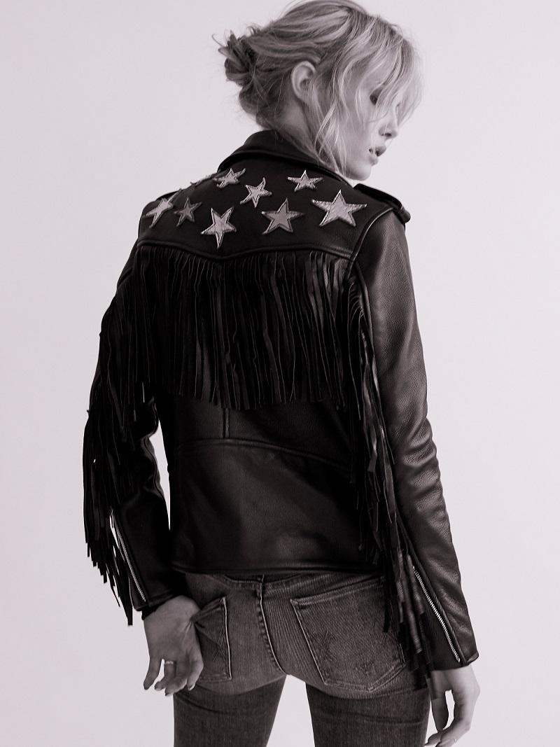 Understated Leather Metallic Night Jacket