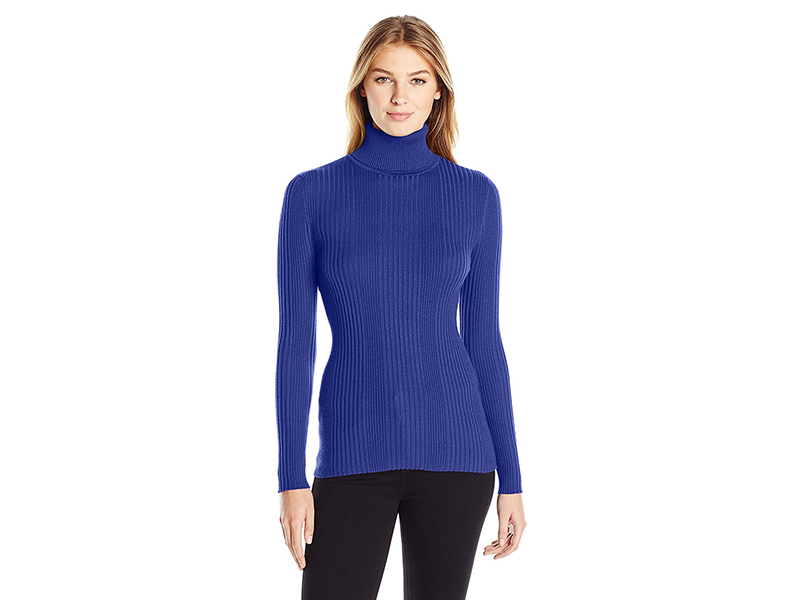 United States Sweaters Varigated Rib Long Sleeve Turtleneck