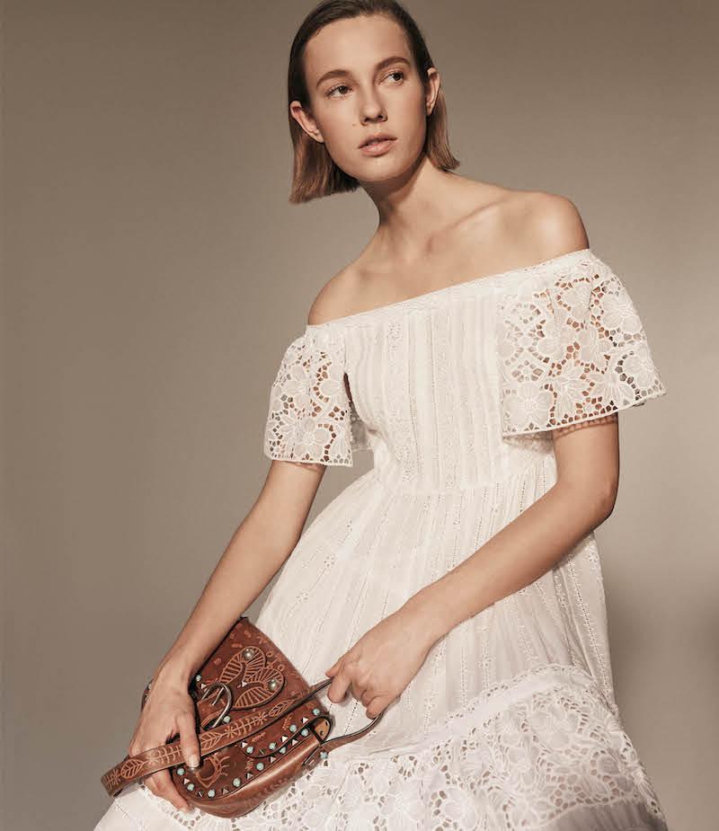 Valentino Cotton-Blend Off-The-Shoulder Maxi Dress