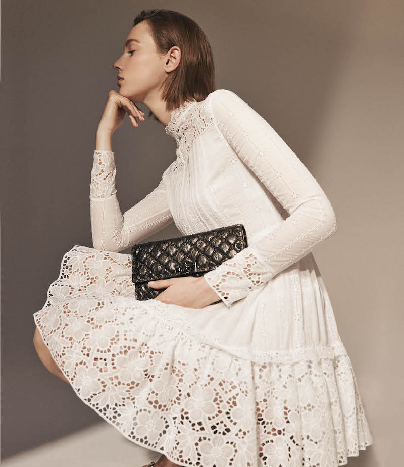 Valentino Lace-Detailed Cotton-Blend Dress