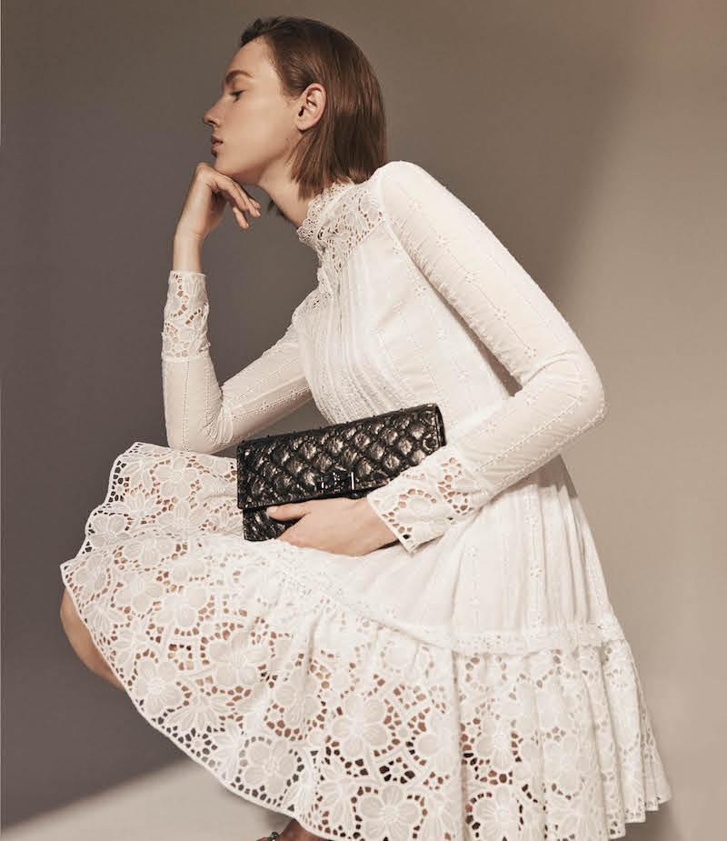 Valentino Lace-Detailed Cotton-Blend Dress