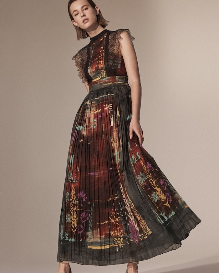 Valentino Tie-Dyed Cotton Maxi Dress
