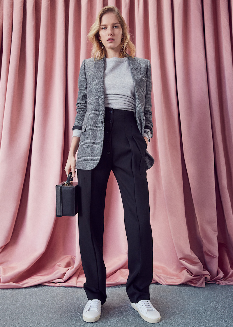 Victoria Beckham Wool Gabardine High Waisted Trousers