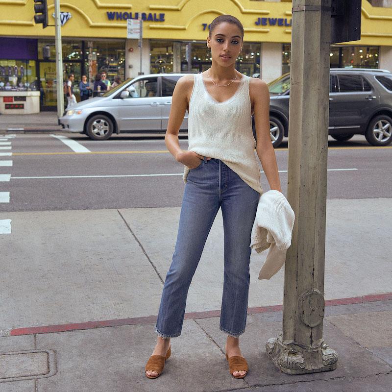 Vince Vintage Straight Jeans