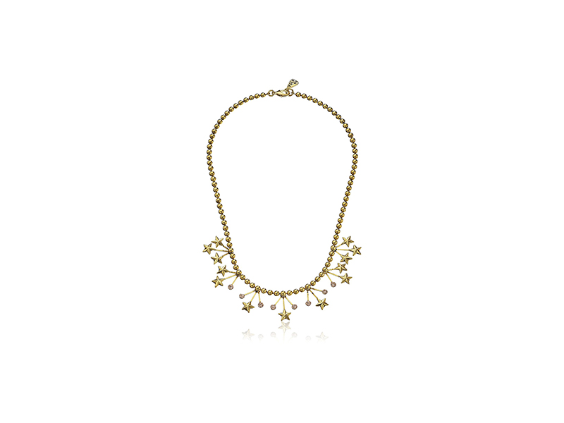 Yochi Stars Crystal Statement Necklace