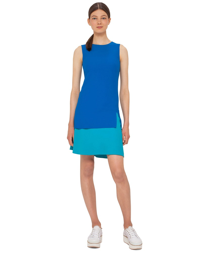 Akris punto Colorblock Sleeveless Shift Dress