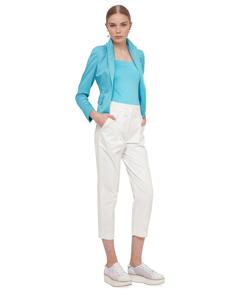 Akris punto Fred Cotton Ankle Pants