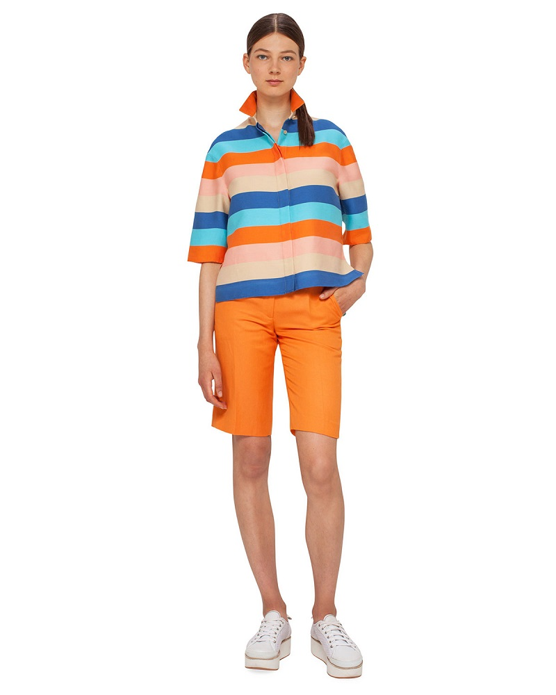 Akris punto Straight-Leg Bermuda Shorts