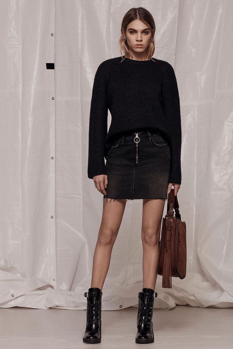 AllSaints Jasper Denim Zip Skirt