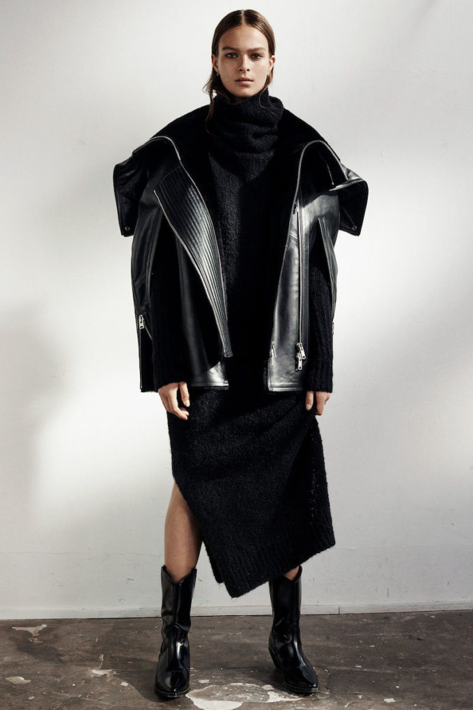 AllSaints Limited Comet Leather Cape