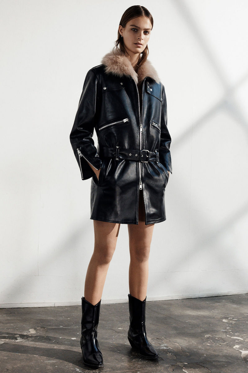 AllSaints Limited Velo Leather Biker Coat