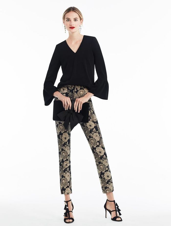 Ann Taylor Gilded Blossom Ankle Pants