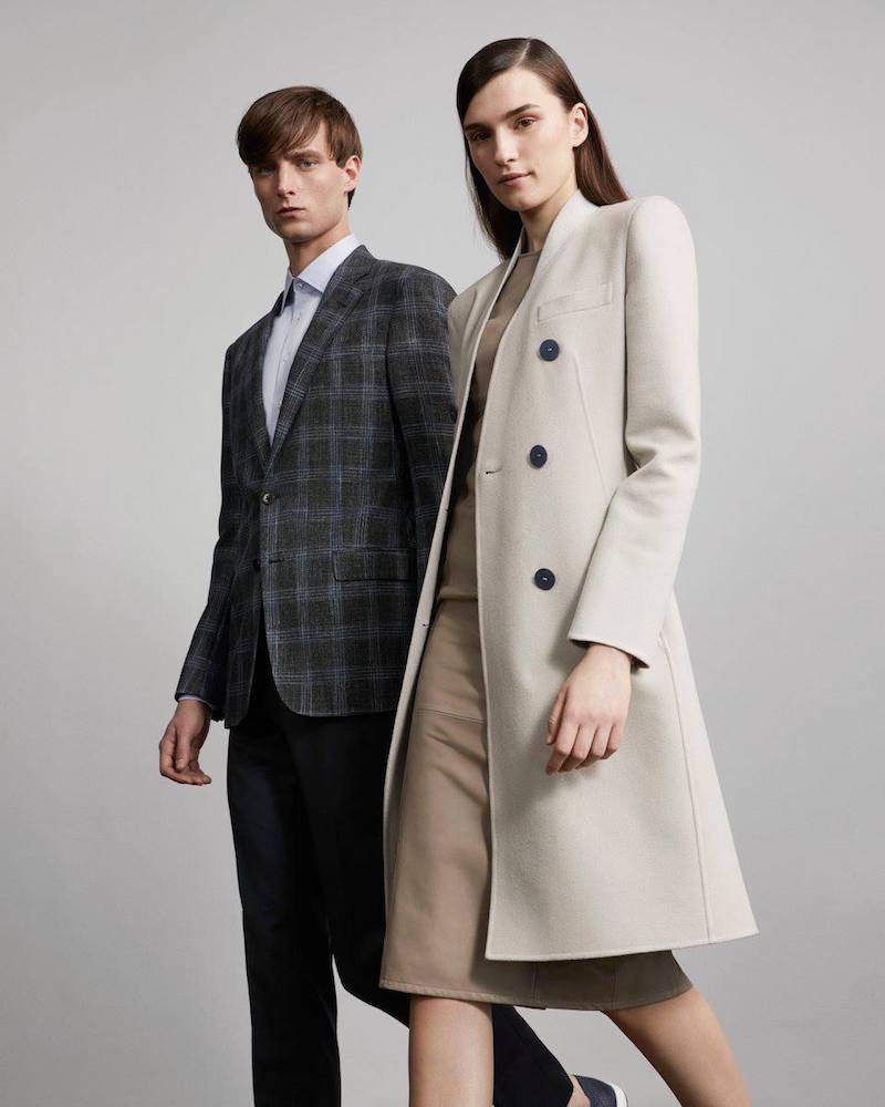 Armani Cashmere Melton Double-Breasted Coat
