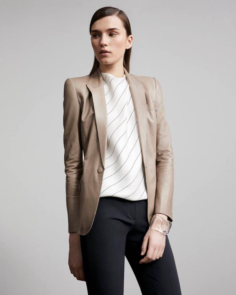 Armani Lambskin One-Button Jacket