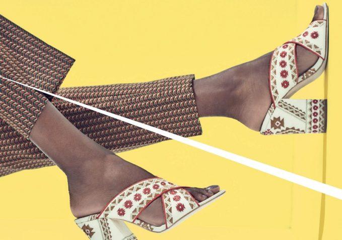 Ash Adel Embroidered Crisscross Slide Sandal