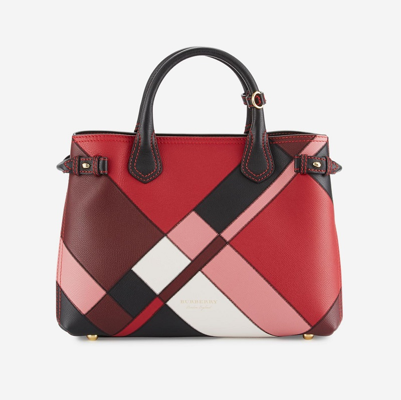 Burberry Banner Medium Patchwork House Check Tote Bag