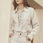 Chloé Lace-up corduroy shirt-