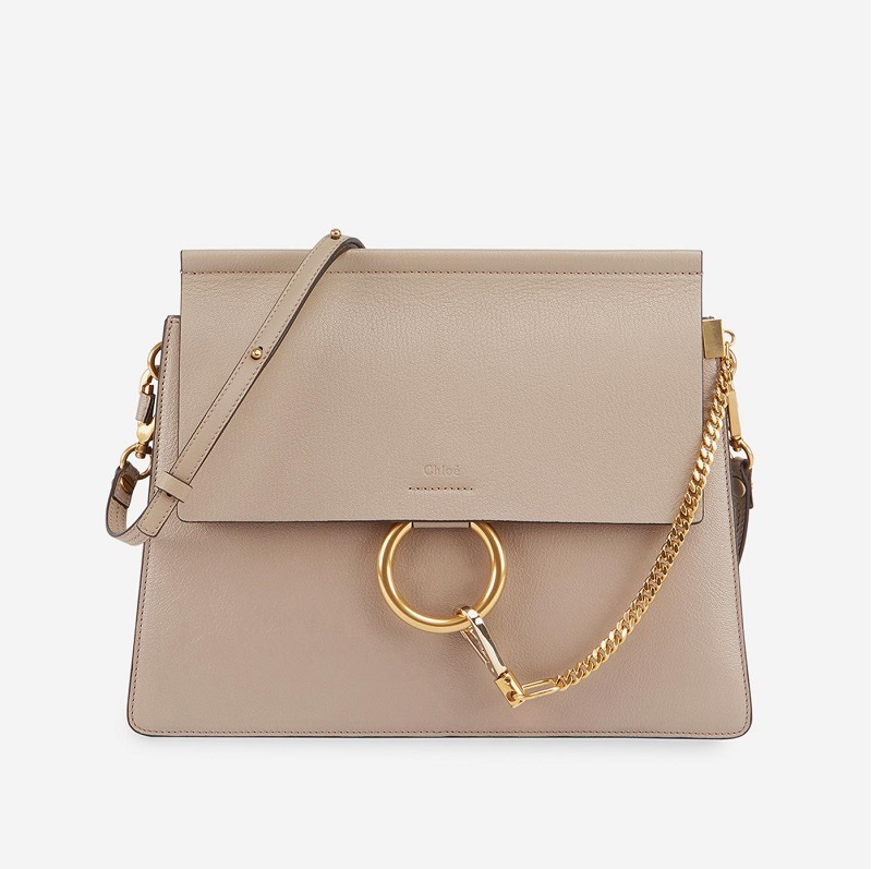 Chloe Faye Medium Leather Shoulder Bag