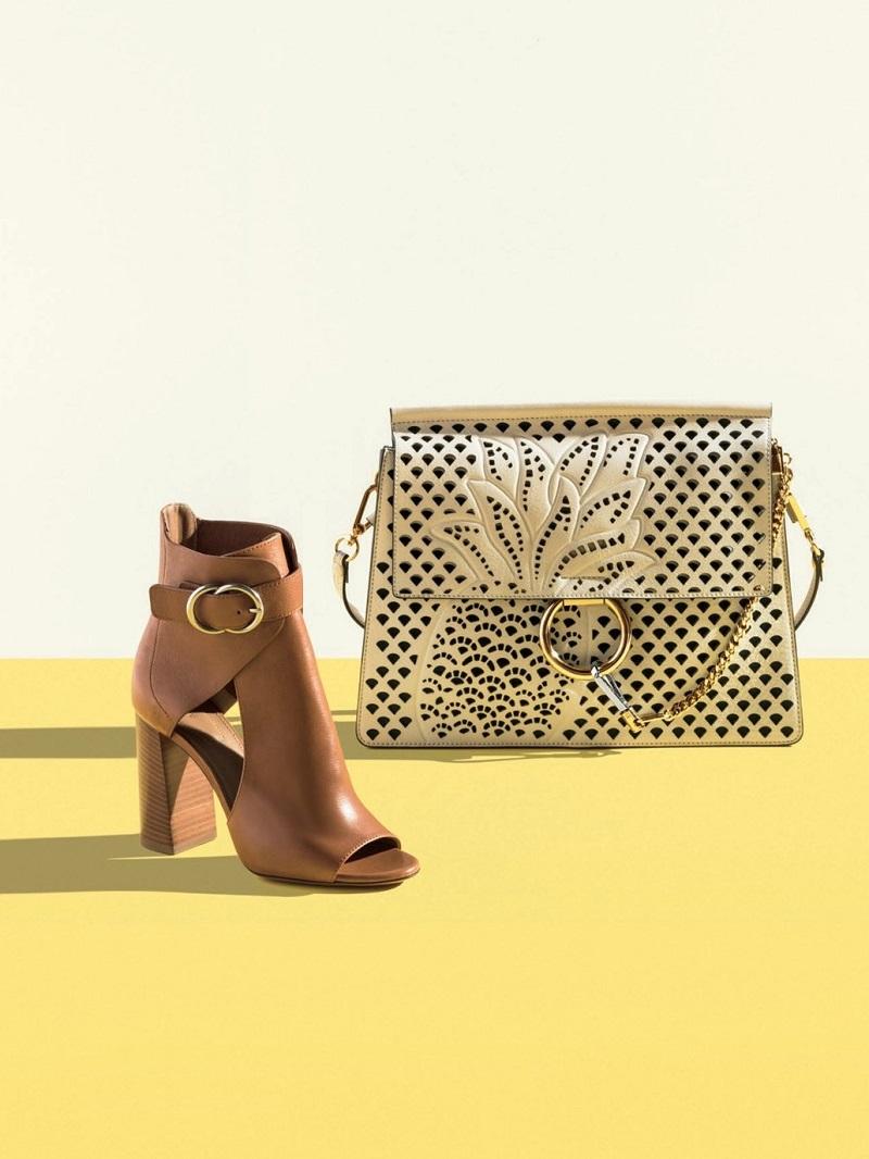Chloe Faye Medium Perforated-Pineapple Shoulder Bag